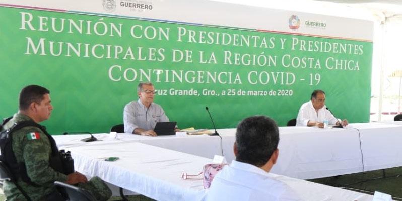 Gobernador de Guerrero pide a alcaldes sumarse a acciones contra el COVID-19
