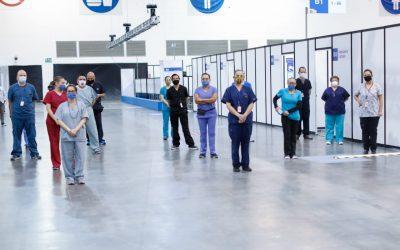 Secretaría de Salud de la CDMX recibe la Unidad Temporal COVID-19