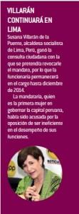 Villarán continuará en Lima