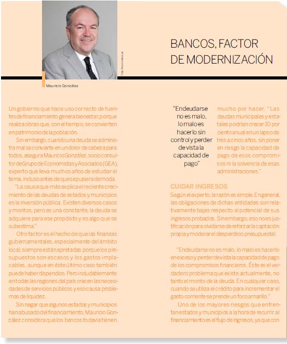 Banco, Factor de Modernización