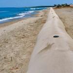 Tubos geotextiles para zonas costeras.