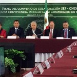 SEP y CNDH firman convenio para combatir bullying