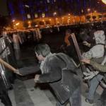 Culminan manifestaciones con enfrentamientos