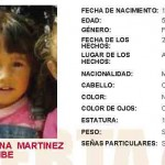 (Localizada) Se activa alerta amber para localizar a la niña Arlett Dayana Martinez Uribe