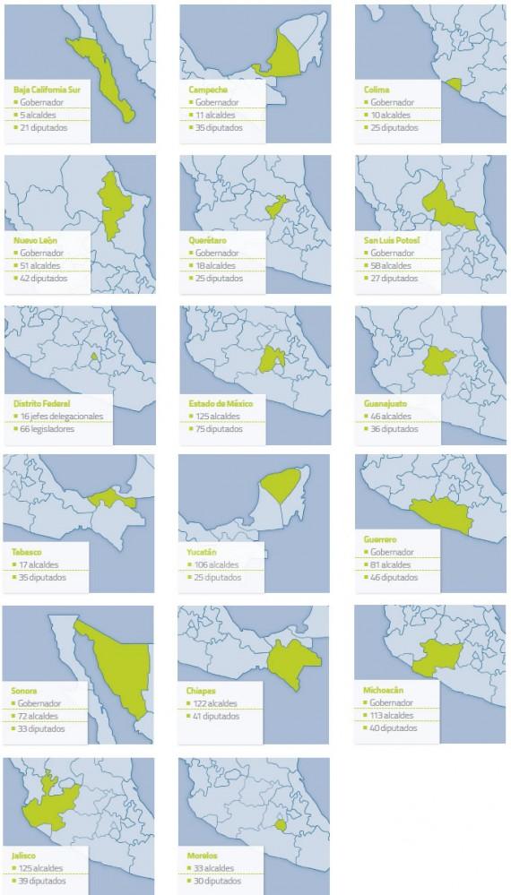 Estados con Elecciones 2015