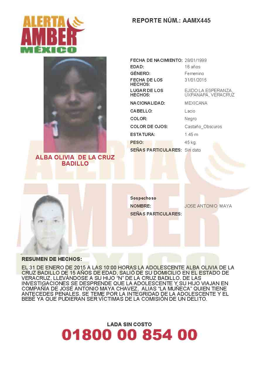 Alba Olivia de la Cruz Baillo Alerta Amber