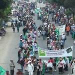 Marchas por aniversario luctuoso de Zapata paralizan Oaxaca