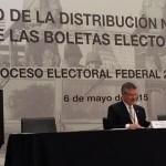 Inicia INE distribución de boletas electorales