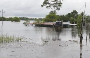 TENOSIQUE, TABASCO, 17OCTUBRE2011.- Calles principales con vados y colonias inundadas es la situación por el desbordamiento del río Usumacinta que las intensas lluvias ha provocado; conforme van pasando las horas los niveles de las agua aumentan y causa procupación en la población. FOTO: MARCO POLO GUZMÁN HERNÁNDEZ/CUARTOSCURO.COM