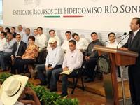 Siete alcaldes se benefician del Fideicomiso Río Sonora