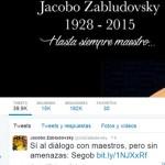 """Jacobo Zabludovsky """"sigue tuiteando"""""""