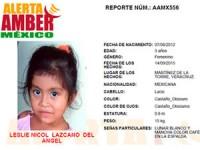 Leslie Nicol Lazcano del Ángel fue arrebatada de los brazos de su madre