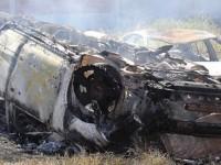 Pobladores de Tlanepantla, Puebla, queman vehículos del Alcalde