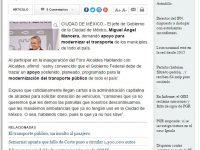 Federación debe apoyar a municipios para modernizar transporte: Mancera