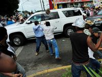 Apedrean a gobernador electo de Veracruz y a líderes del PAN