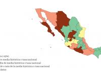 Colima, Guerrero y Sinaloa; los estados con más homicidios en 2016