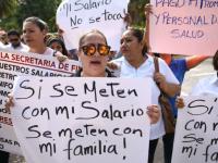 Burócratas y policías de Veracruz se unen a protestas por falta de pago de salarios