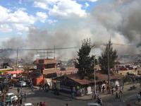 Explota polvorín en mercado de cohetes de Tultepec