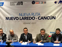 Turistas de Nuevo Laredo estrenarán vuelo directo a Cancún
