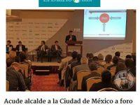 Acude alcalde a la Ciudad de México a foro sobre 'ciudades inteligentes'