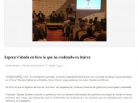 Comparte Cabada experiencias en foro 'Alcaldes hablando con Alcaldes'
