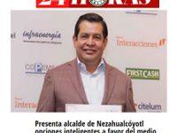 Presenta alcalde de Nezahualcóyotl opciones inteligentes a favor del medio ambiente en el foro