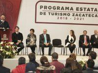 Presenta Gobernador de Zacatecas el Programa Estatal de Turismo 2018-2021
