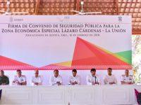 Guerrero y Michoacán suscriben convenio de seguridad para la ZEE