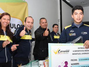 Deportistas destacados de la alcaldía Venustiano Carranza recibirán apoyos trimestrales