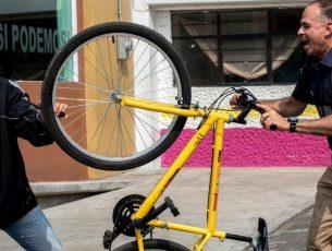 Policía en bicicleta, el programa emergente que será permanente en Neza