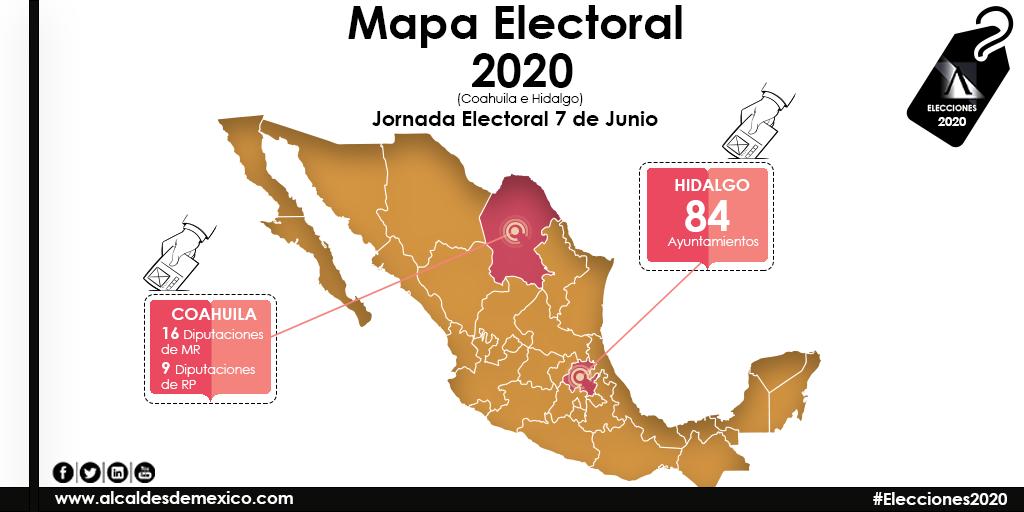 Elecciones 2020 en Coahuila e Hidalgo | Alcaldes de México